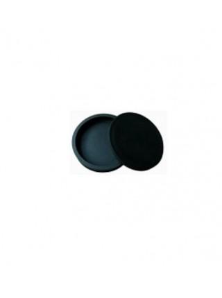 Камень для растирки туши, круглый с крышкой, d-18 см, с двойным углублением