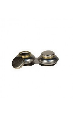 """Масленка двойная, металлическая с закручивающимися крышками, форма """"пузатая"""", d 50мм, h 25мм"""