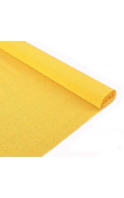 Бумага гофрированная, 50*250 см, 140 г/м2, желтая, 976