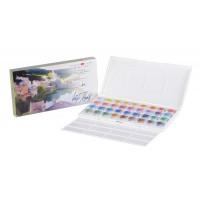 """Набор акварельных красок """"Белые Ночи"""" IWS, 36 кювет, в пластиковой коробке"""