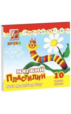 """Пластилин 10 цветов, мягкий """"Кроха"""""""