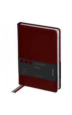"""Ежедневник """"Berlingo"""" Silver Pristine, А5, недатированный, серебрян. срез, кожзам, коричневый, 160 л"""