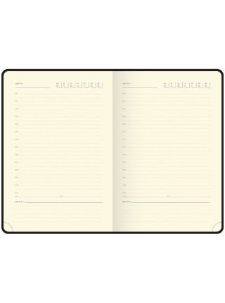 """Ежедневник """"Berlingo"""" xGold, А5, недатированный, золотой срез, кожзам, коричневый, 160 л"""
