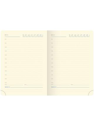 """Ежедневник """"Berlingo"""" xGold, А6, недатированный, золотой срез, кожзам, коричневый, 160 л"""