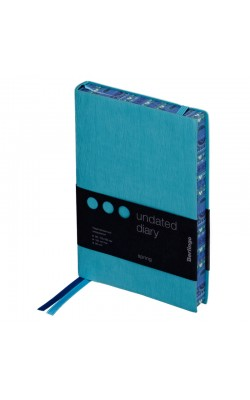 """Ежедневник """"Berlingo"""" Spring, B6, недатированный, полноцветный срез, кожзам, голубой, 160 л"""