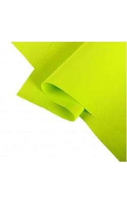 Фоамиран иранский 0,8-1 мм (жёлто-зелёный) 60х70 см