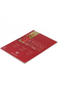 """Альбом для акварели """"Clairefontaine"""" Etival, А4, 200 г/м2, классическое зерно, 10 л"""