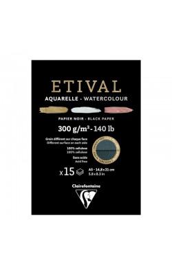 """Альбом для акварели """"Clairefontaine"""" Etival, А5, 300 г/м2, торшон/холодный пресс, 15 л"""