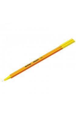 """Ручка капиллярная """"Berlingo"""" Rapido, 0,4 мм, жёлтый, трёхгранная"""