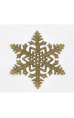 Металлические Снежинки, цвет бронза, 4.5*4.5см, 5шт