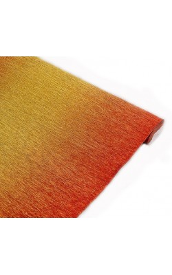 Бумага гофрированная, 50*250 см, 180 г/м2, золотисто-красный металл, 801/1