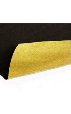 Бумага гофрированная, 50*250 см, 180 г/м2, золото-темный каштан металл, 801/7