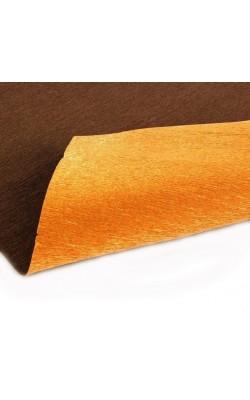 Бумага гофрированная 808/6 медно-золотой металл, 50 см х 2,5 м 180г