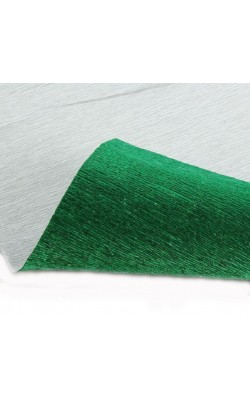 Бумага гофрированная, 50*250 см, 180 г/м2, зеленая металл, 804