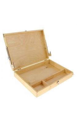 Этюдный ящик 450*330*85мм, средний (А3), горизонтальный