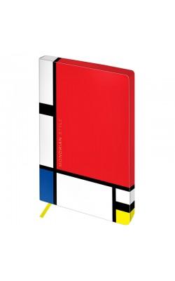 """Записная книжка """"Greenwich Line"""" Utility. Mondrian, А5, в точку, цветной срез, кожзам, 80 л"""