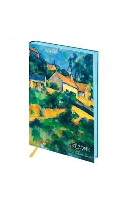 "Записная книжка ""Greenwich Line"" Vision. Cezanne. Turning Road, А5, цветной срез, кожзам, 80 л"