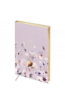 "Записная книжка ""Greenwich Line"" Vision. Summer blossom, А5, в клетку, золотой срез, кожзам, 80 л"