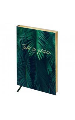 """Записная книжка """"Greenwich Line"""" Vision. Palm leaves, А6, в клетку, золотой срез, кожзам, 80 л"""