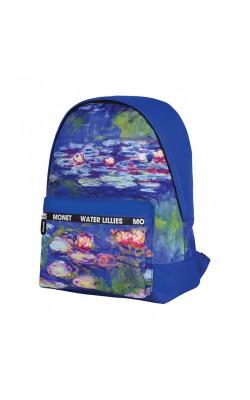 """Рюкзак """"Berlingo"""" Art """"Водяные лилии"""", 40*29*16 см, 1 отделение, 1 карман, уплотнённая спинка"""
