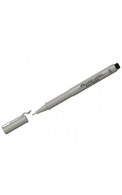"""Ручка капиллярная """"Faber-Castell"""" ECCO PIGMENT, черный, 0,6 мм"""