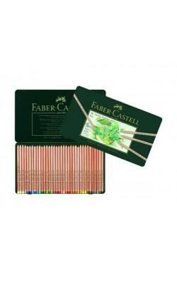 """Набор пастельных карандашей """"Faber-Castell"""", 36 цветов, круглые, металлический пенал"""
