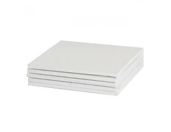Холст грунтованный на картоне, 100% хлопок, мелкозернистый, 280 г/м2, 10*10 см, 1 шт
