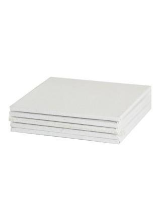 Холст грунтованный на картоне, хлопок 100%, грунт акриловый, 280 гр/м2, 20х20 см