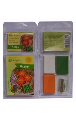 """Набор пластики с фурнитурой и инструкцией """"Коллекция Цветы. Астры"""", Artifact"""