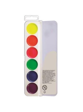 Акварель флуоресцентная 6 цветов без кисти