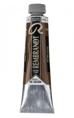 Краска масляная Rembrandt, туба 40мл, №414 Битум