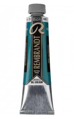 """Краска масляная """"Rembrandt"""", туба 40 мл, №683 ультрамарин зелёный"""