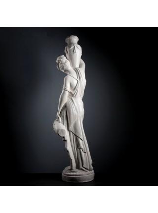 Статуя Женщина с кувшином, белый 140см
