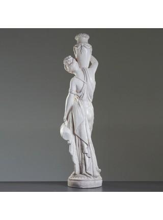 """Статуя """"Женщина с кувшином"""", 140, серая, состаренная, гипс, лаковое покрытие"""