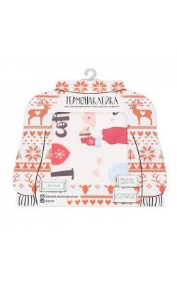 Термонаклейка для декорирования текстильных изделий, I Love Coffee, 15 х 15 см