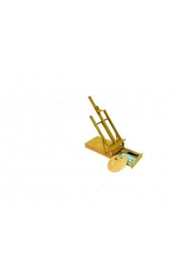 """Мольберт """"Студия"""" деревянный (вяз), размер 88х33х17 см, с ящиком для красок и палитрой"""