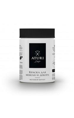 """Краска для мебели и декора """"ATURI"""" Design, Меловой Бархат, белоснежный, 400 гр"""