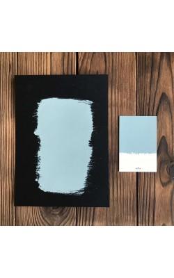 """Краска для мебели и декора """"ATURI"""" Design, Меловой Бархат, скандинавский голубой А-041, 400 гр"""