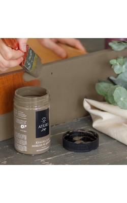 """Краска для мебели и декора """"ATURI"""" Design, Меловой Бархат, крепкий кофе, 400 гр"""