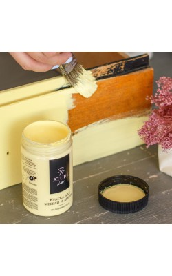 "Краска для мебели и декора ""ATURI"" Design, Меловой Бархат, английский жёлтый, 400 гр"