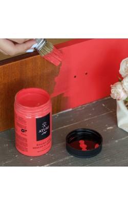 """Краска для мебели и декора """"ATURI"""" Design, Меловой Бархат, красная помада, 400 гр"""
