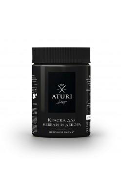 "Краска для мебели и декора ""ATURI"" Design, Меловой Бархат, чёрный бархат, 830 гр"