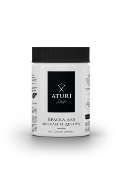 """Краска для мебели и декора """"ATURI"""" Design, Меловой Бархат, белоснежный, 830 гр"""