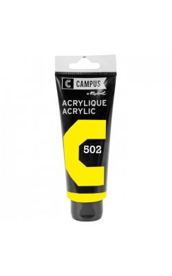 """Акриловая краска """"Sennelier"""" Campus, жёлтый флуоресцентный, 100 мл"""