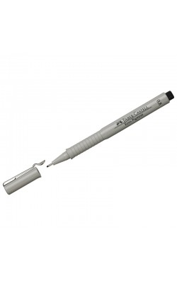 """Ручка капиллярная """"Faber-Castell"""" ECCO PIGMENT, черный, 0,8 мм"""