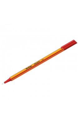 """Ручка капиллярная """"Berlingo"""" Rapido, 0,4 мм, красный, трёхгранная"""