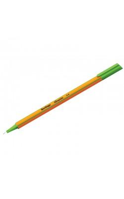 """Ручка капиллярная """"Berlingo"""" Rapido, 0,4 мм, светло-зелёный, трёхгранная"""