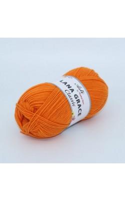 Пряжа LANA GRACE Classic (2410, апельсин) 75% акрил супер софт, 25% мериносовая шерсть, 100гр. 300м.