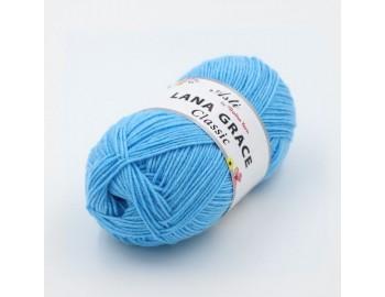 Пряжа LANA GRACE Classic (0300, светло-голубой)75% акрил супер софт, 25% мериносовая шерсть, 100гр.
