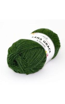 Пряжа LANA GRACE Classic (3664, светло-зеленый) 75% акрил супер софт, 25% мериносовая шерсть, 100гр.
